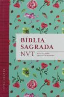BIBLIA SAGRADA - NVT - FLORES TIFFANY (LETRA GRAND