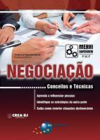 NEGOCIACAO - CONCEITOS E TECNICAS