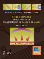 INCROPERA - FUNDAMENTOS DE TRANSFERENCIA DE CALOR