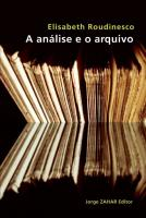 ANALISE E O ARQUIVO, A