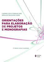 ORIENTACOES PARA ELABORACAO DE PROJETOS DE MONOGRA